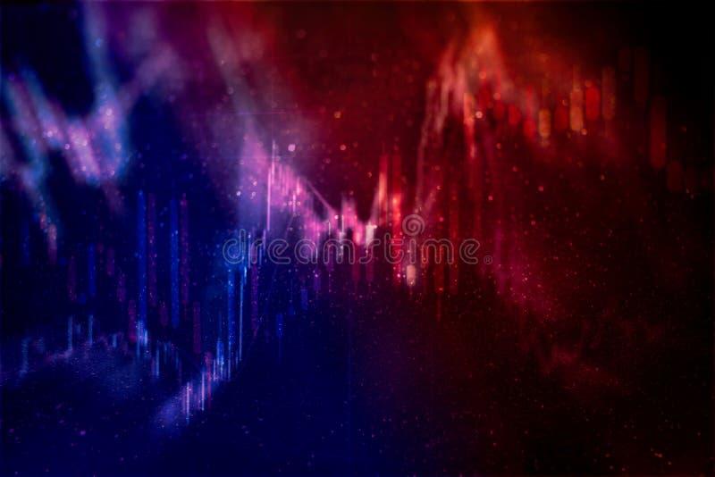 Grafico del mercato azionario Fondo del grafico commerciale Commercio dei forex concetto di affari a colori illustrazione vettoriale