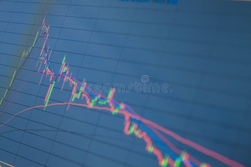 Download Grafico Del Mercato Azionario Su Un Computer Immagine Stock - Immagine di economia, background: 55361265