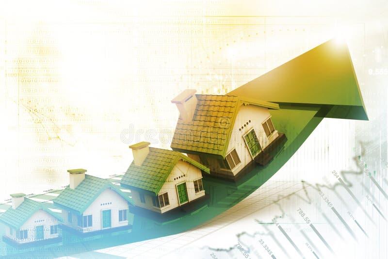 Grafico del mercato degli alloggi illustrazione di stock