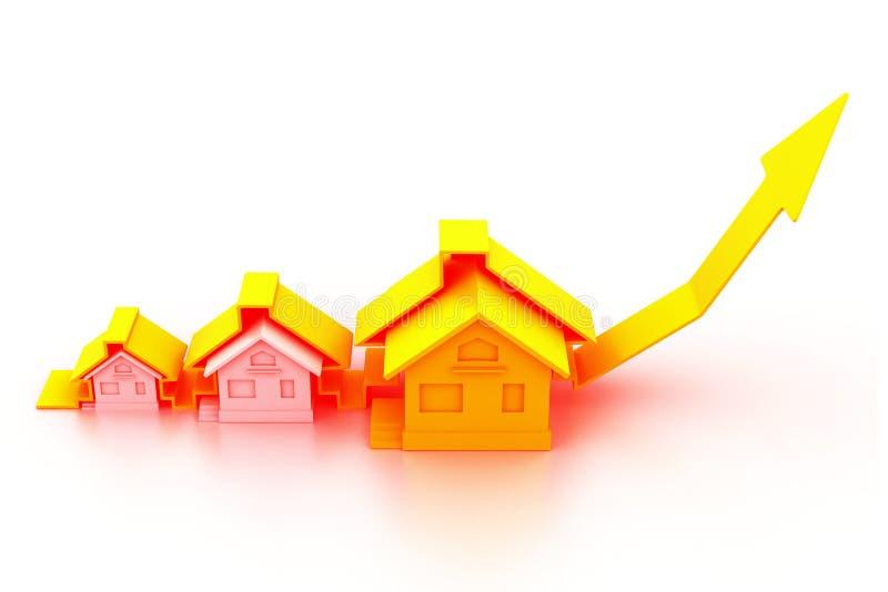 Grafico del mercato degli alloggi illustrazione vettoriale