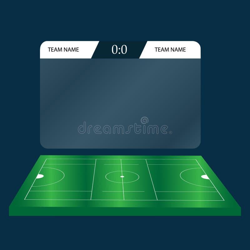Grafico del tabellone segnapunti di calcio di calcio di lacrosse Illustrazione di vettore del fondo di Digital illustrazione vettoriale