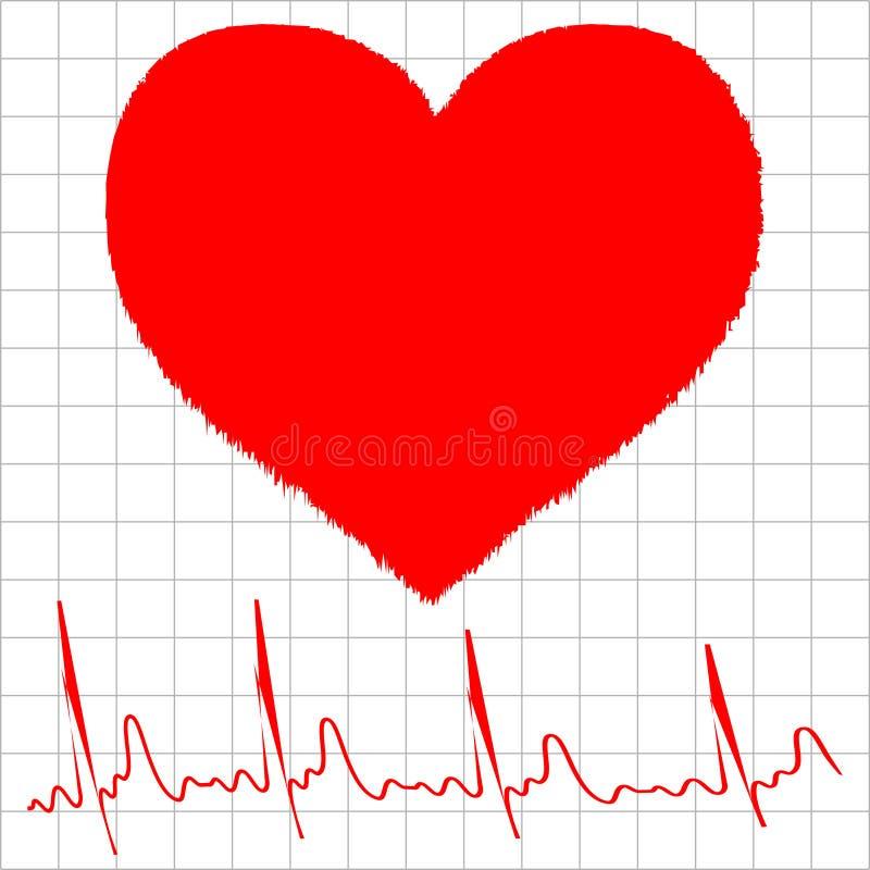 Grafico del video di cuore illustrazione di stock