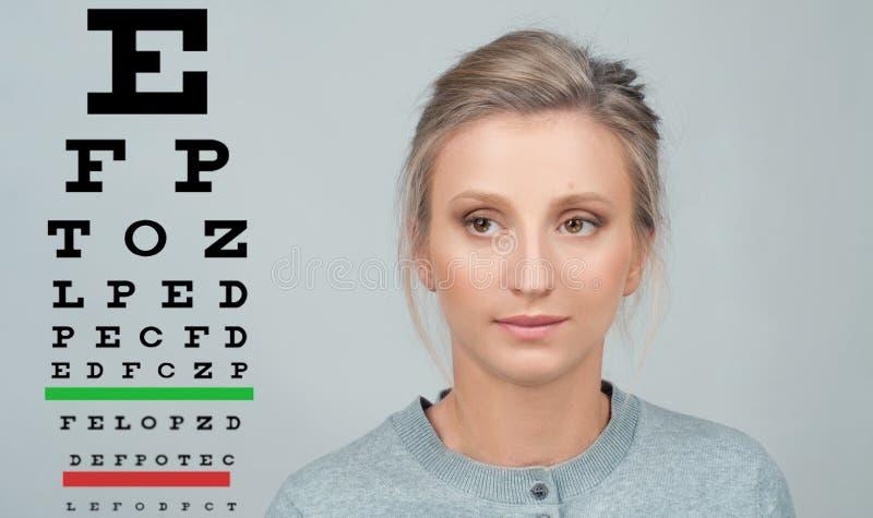 Grafico dell'esame di visione di vista della prova dell'occhio immagini stock libere da diritti