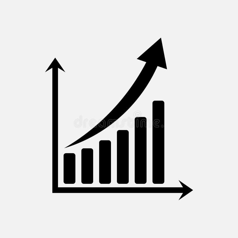 Grafico dell'icona di commercio, tassi di cambio illustrazione di stock