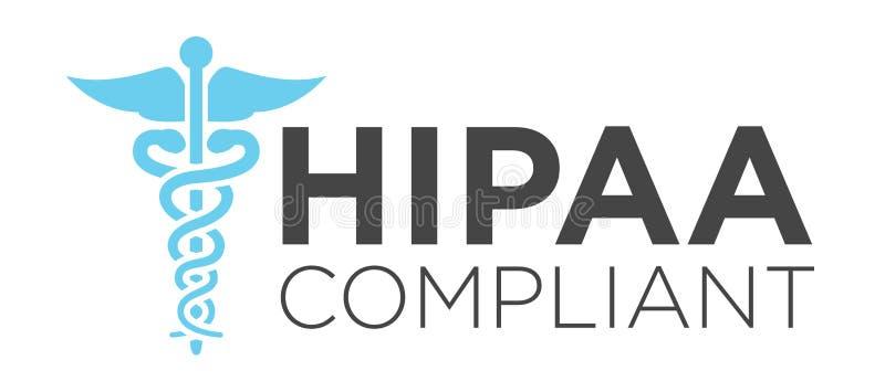 Grafico dell'icona di conformità di HIPAA illustrazione di stock