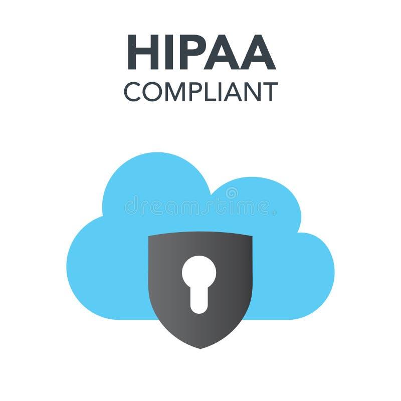 Grafico dell'icona di conformità di HIPAA illustrazione vettoriale