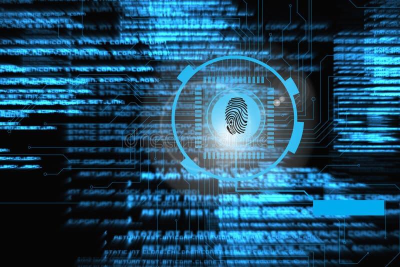 grafico dell'identificazione dell'impronta digitale immagine stock