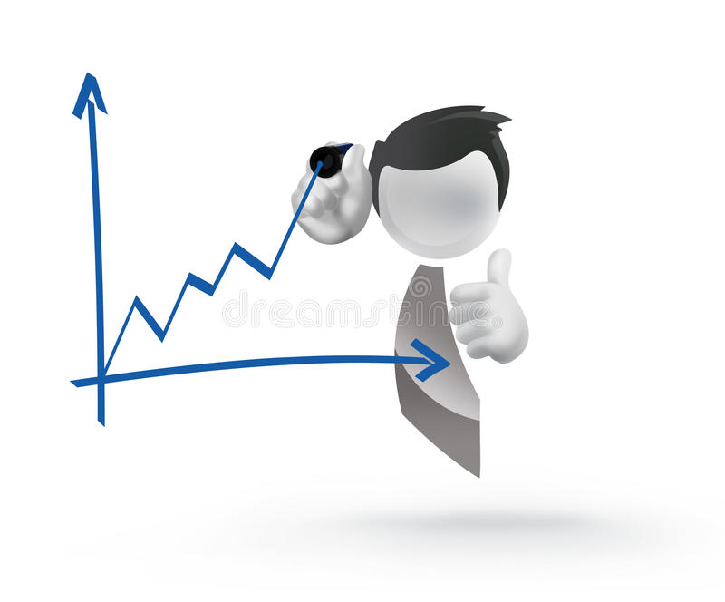 Grafico dell'illustrazione dell'uomo d'affari illustrazione vettoriale