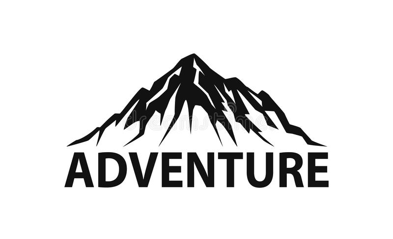 Grafico dell'illustrazione di vettore isolato logo della siluetta della montagna illustrazione vettoriale
