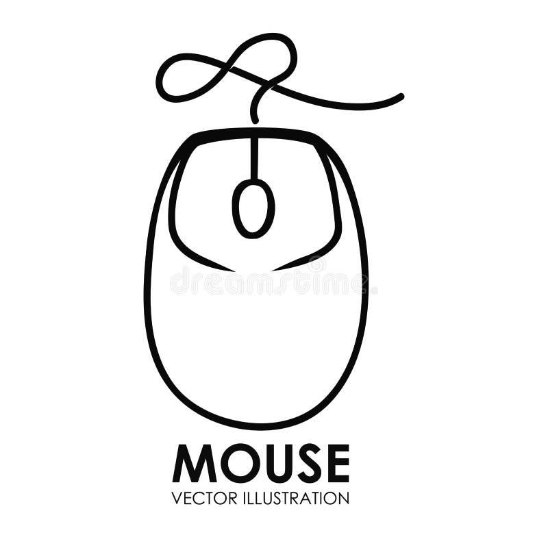 Grafico dell'illustrazione eps10 di vettore di progettazione dell'icona del topo illustrazione di stock