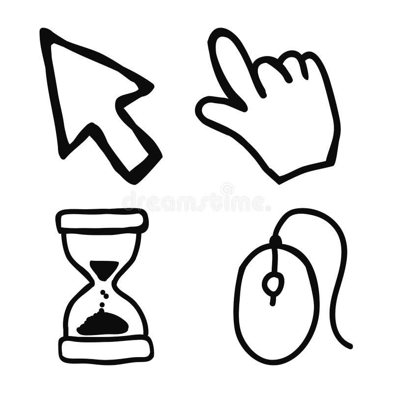 Grafico dell'illustrazione eps10 di vettore di progettazione dell'icona del topo illustrazione vettoriale
