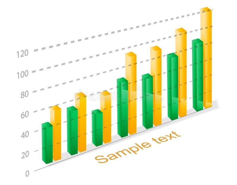 Grafico della colonna illustrazione di stock