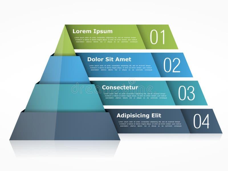 Grafico della piramide illustrazione vettoriale