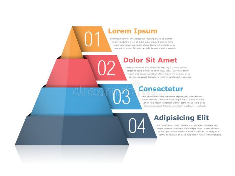 Grafico della piramide illustrazione di stock
