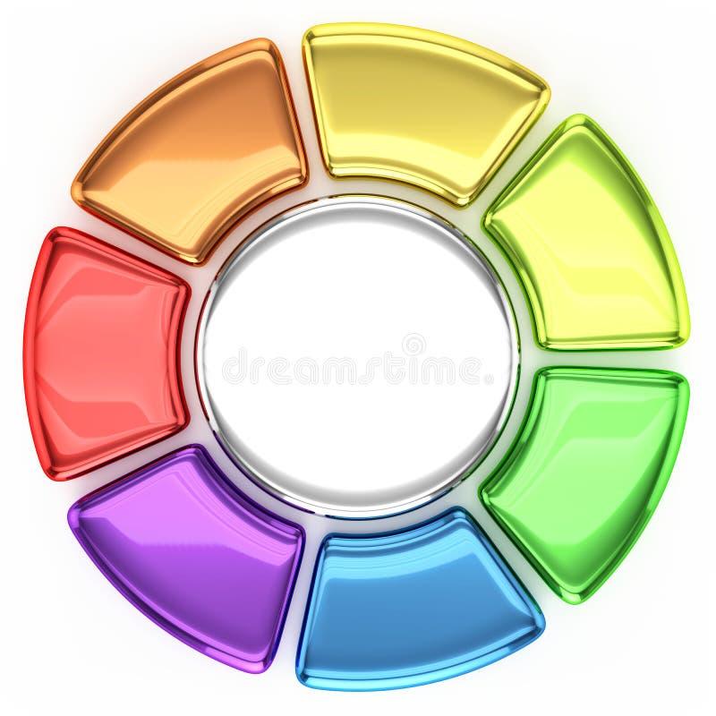 Grafico della ruota colorata illustrazione di stock