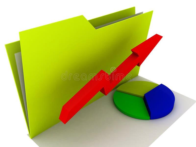 Grafico di affari del dispositivo di piegatura   illustrazione di stock