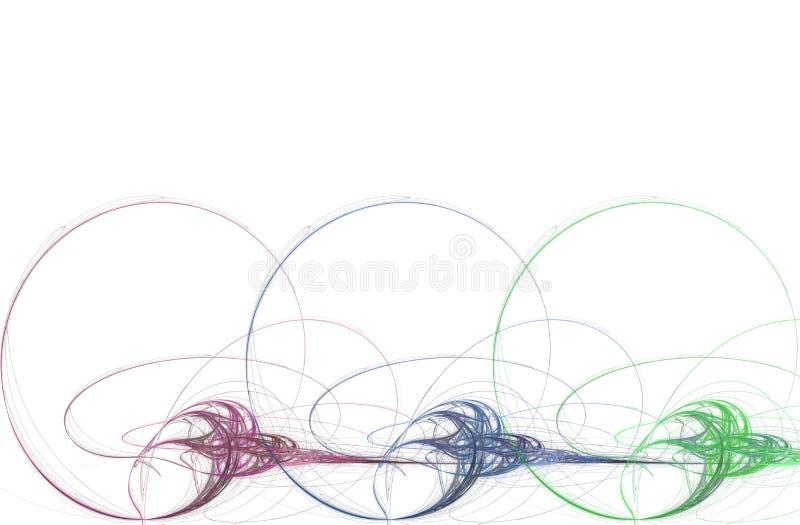 Grafico di affari - spirali illustrazione vettoriale
