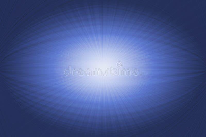 Grafico di calcolatore bianco blu di un occhio astratto fotografia stock