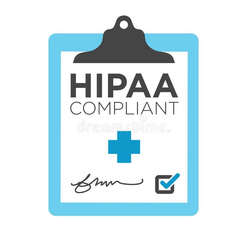 Grafico di conformità di HIPAA illustrazione di stock