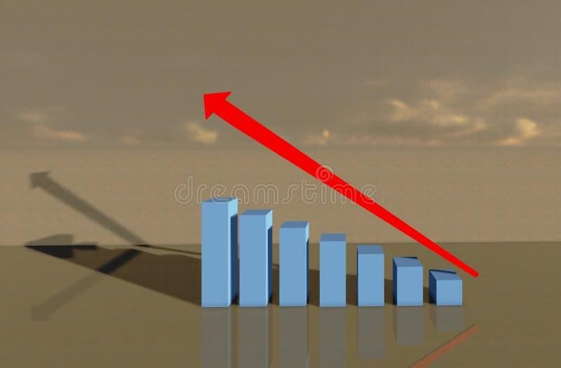 Grafico di crescita illustrazione vettoriale