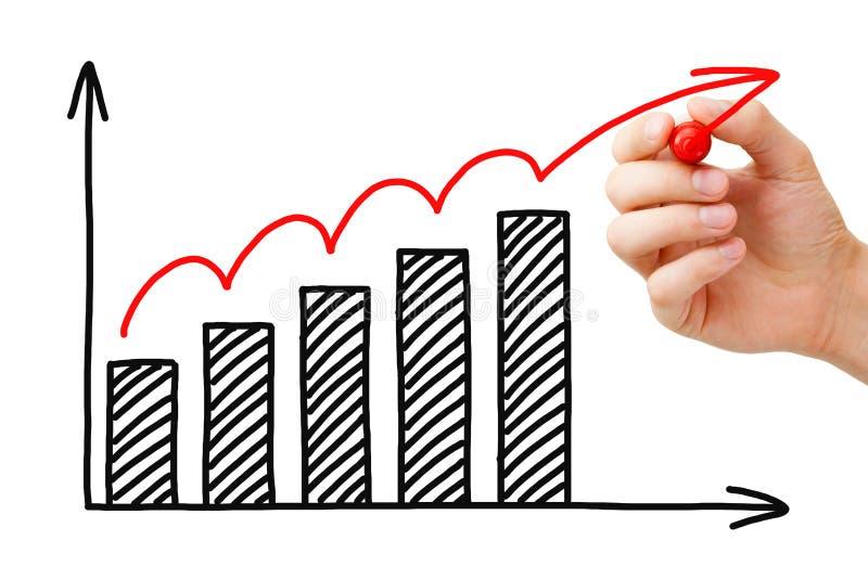 Grafico di crescita di affari immagini stock libere da diritti