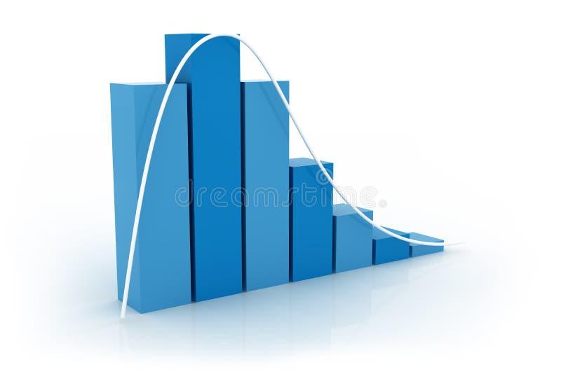 Grafico di distribuzione fotografia stock