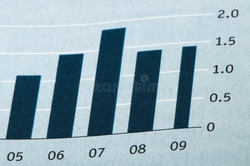 Grafico di economia fotografia stock