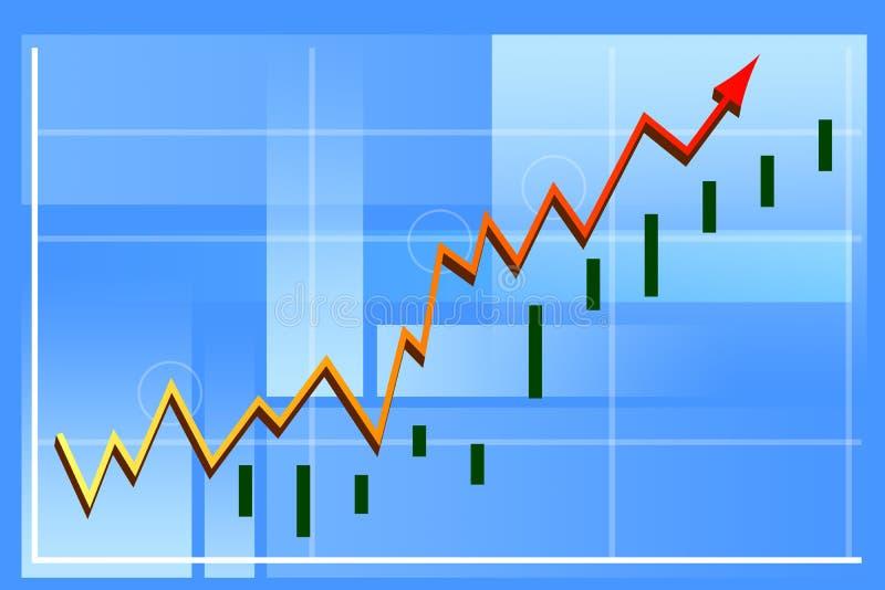 Grafico di finanze illustrazione di stock