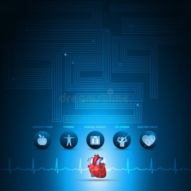 Grafico di informazioni di sanità del cuore royalty illustrazione gratis
