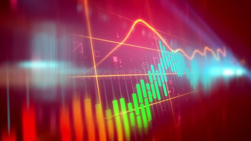 Grafico di linea di business a scatti illustrazione di stock