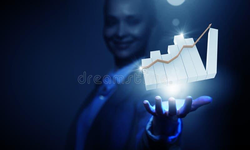 Grafico di profitto fotografia stock libera da diritti