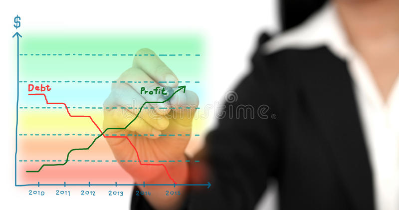 Grafico di profitto di affari illustrazione di stock