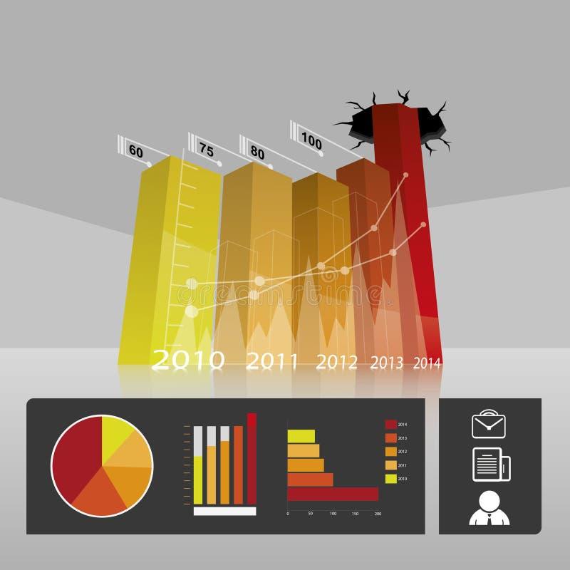 Grafico di profitto di commercio di affari illustrazione vettoriale