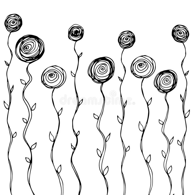 Grafico di progettazione di arte dell'illustrazione della natura di vettore royalty illustrazione gratis