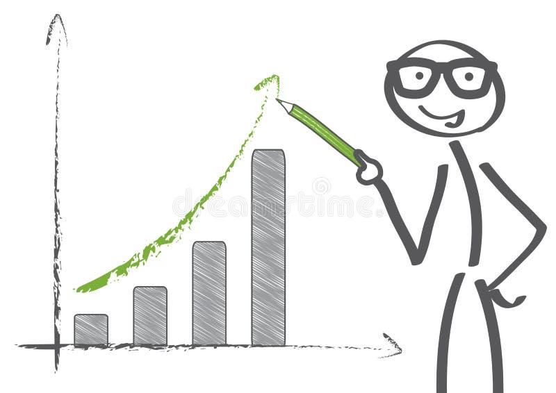 Grafico di recupero illustrazione vettoriale