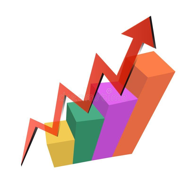 Grafico di successo Concetto di successo illustrazione vettoriale