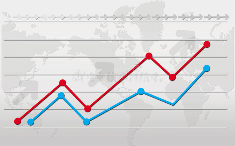 Grafico di sviluppo illustrazione vettoriale