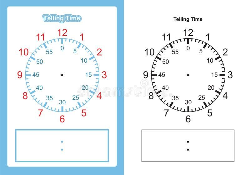 Grafico di tempo di insegnamento che dice il momento per il grafico dell'insegnante per tempo di insegnamento royalty illustrazione gratis