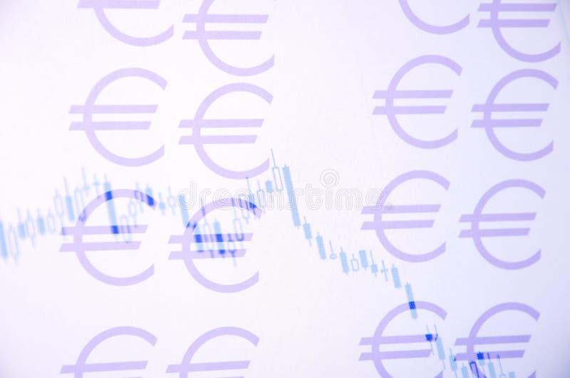 Grafico di valuta illustrazione di stock
