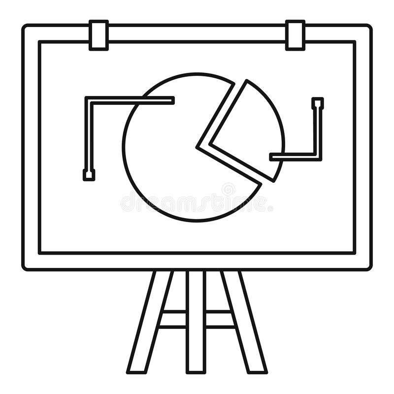 Grafico di vibrazione con l'icona di statistiche, stile del profilo illustrazione di stock