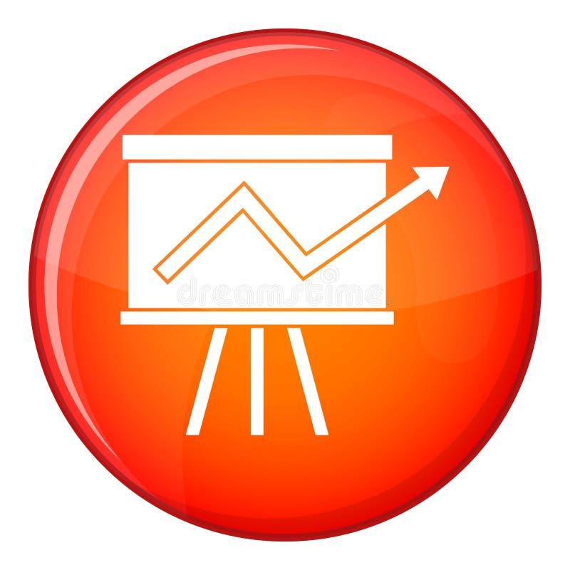 Grafico di vibrazione con l'icona di statistiche, stile piano royalty illustrazione gratis