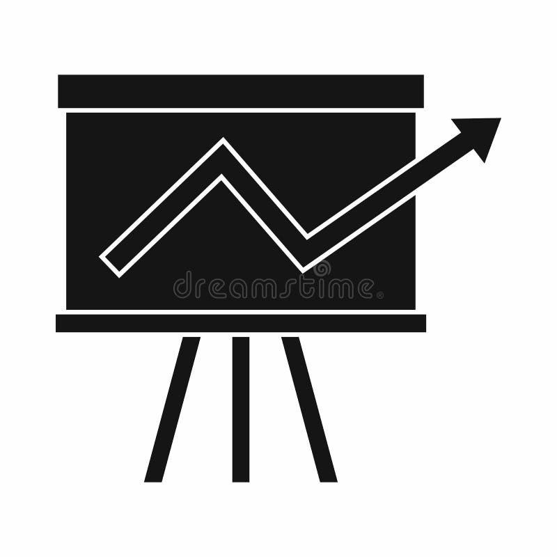Grafico di vibrazione con l'icona di statistiche, stile semplice illustrazione vettoriale