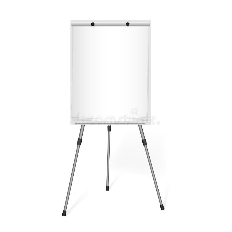 Grafico di vibrazione con un foglio bianco di carta nell'ufficio illustrazione di stock