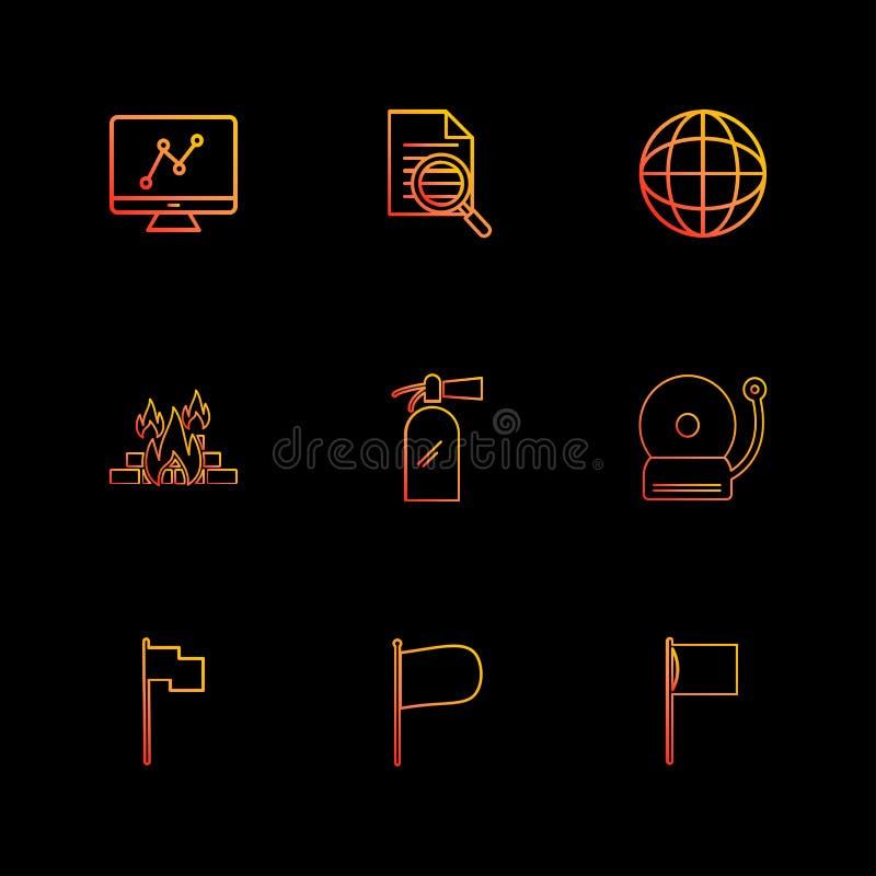 grafico, documento, campana, fuoco, seo, tecnologia, Internet, Florida illustrazione vettoriale