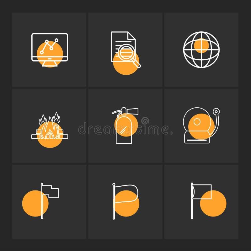 grafico, documento, campana, fuoco, seo, tecnologia, Internet, Florida illustrazione di stock