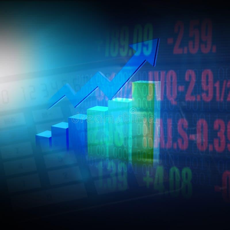Grafico e istogramma del mercato azionario illustrazione vettoriale