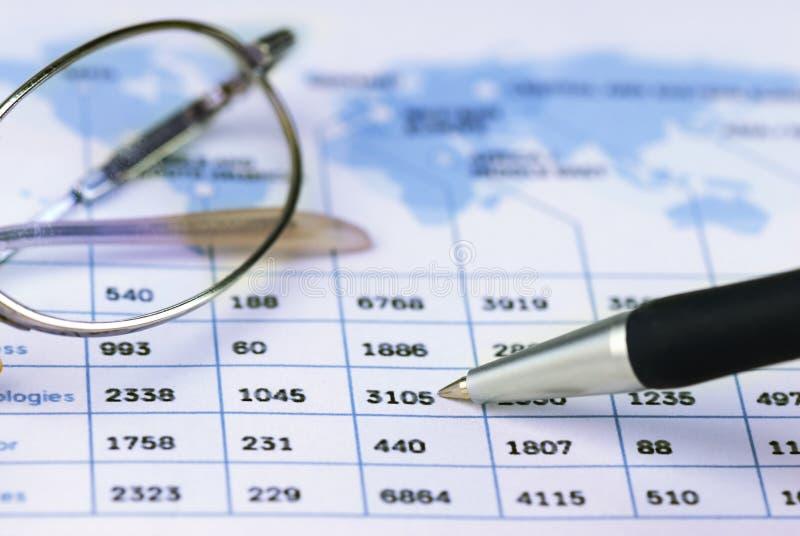 Grafico finanziario immagini stock libere da diritti