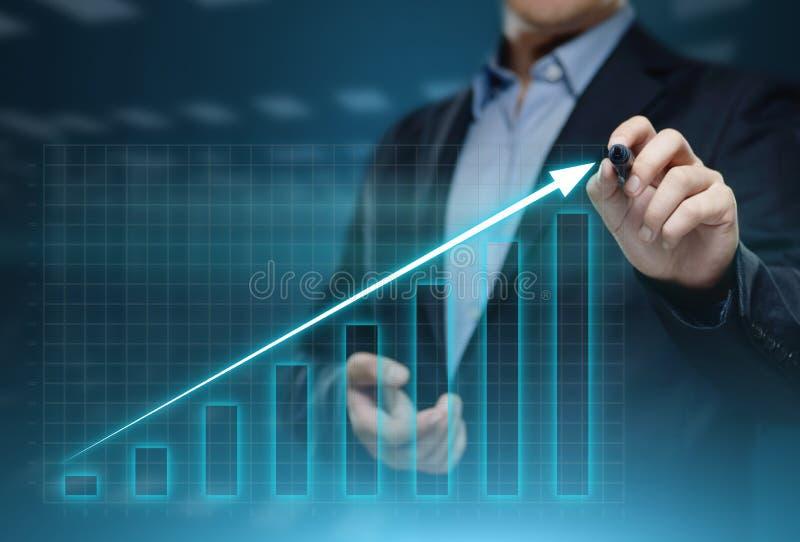 Grafico finanziario Grafico del mercato azionario Concetto di tecnologia di Internet dell'attività d'investimento dei forex fotografie stock libere da diritti