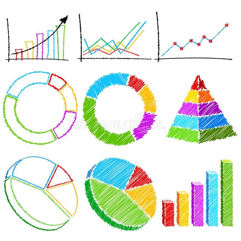 Grafico finanziario differente illustrazione di stock