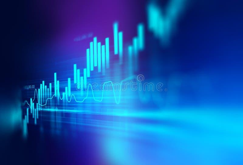 Grafico finanziario tecnico sul fondo dell'estratto di tecnologia illustrazione vettoriale